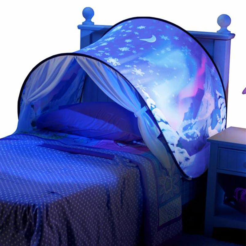 baby pop up bed tent kid tent unicorn snowy foldable playhouse comforting at night sleeping. Black Bedroom Furniture Sets. Home Design Ideas