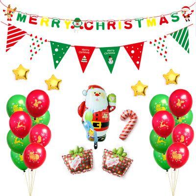 christmas indoor decorations balloons santa claus party balloons