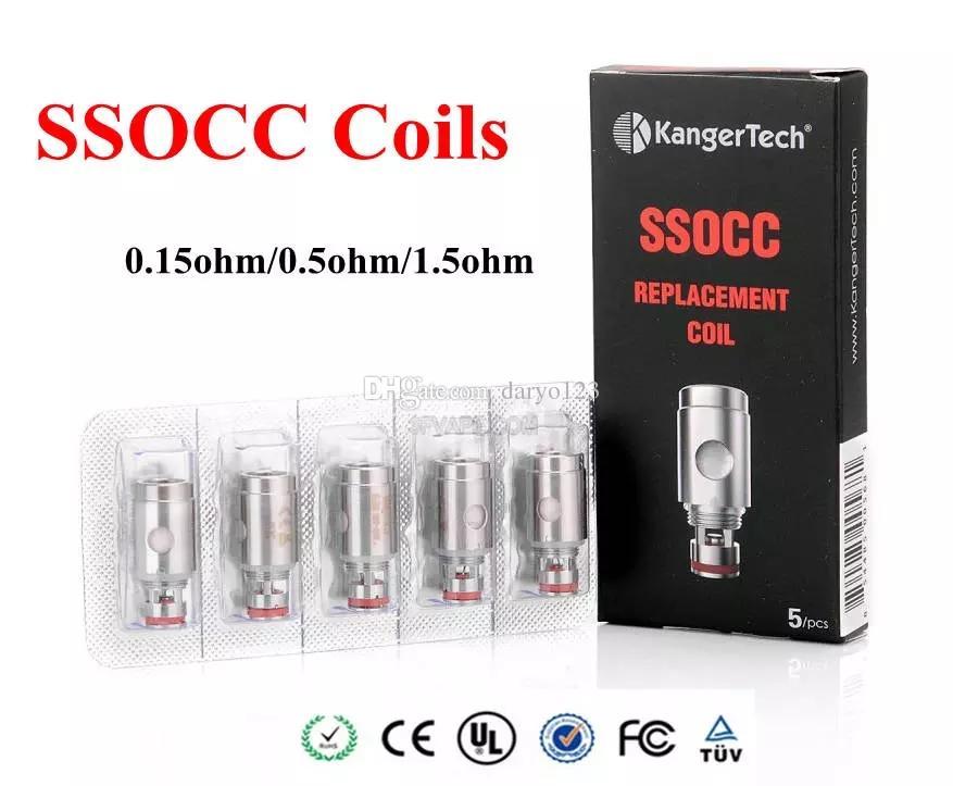 Kanger SSOCC Coils 0.5ohm 1.2ohm 1.5ohm Ni200 0.15ohm Replace Coil Head For Kanger Nebox Kit Subvod Kit toptank mini