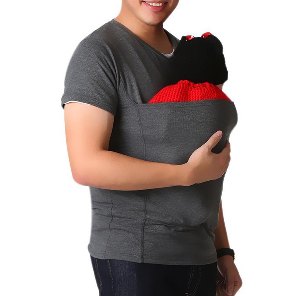Dad Baby Camisa Los Hombres Caliente Alta Del Tee Envío Canguro Corta Hombre Camiseta Manga Tops Calidad De Venta Multifunción Para OwPn0k8