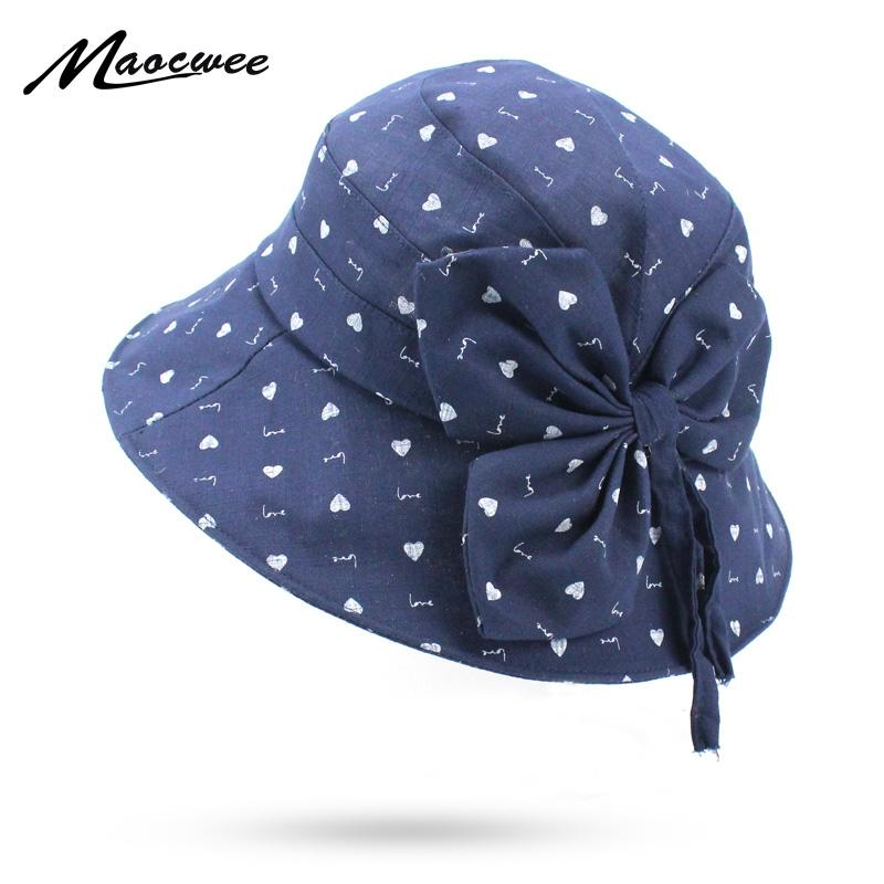 7e21fd546e2 Spring Summer Bucket Hats For Women Fishing Hat Female Cartoon Bow Tie Bucket  Hat Sunscreen Sun Flat Fisherman Cap For Girl Sunhat Eric Javits From  Value333 ...