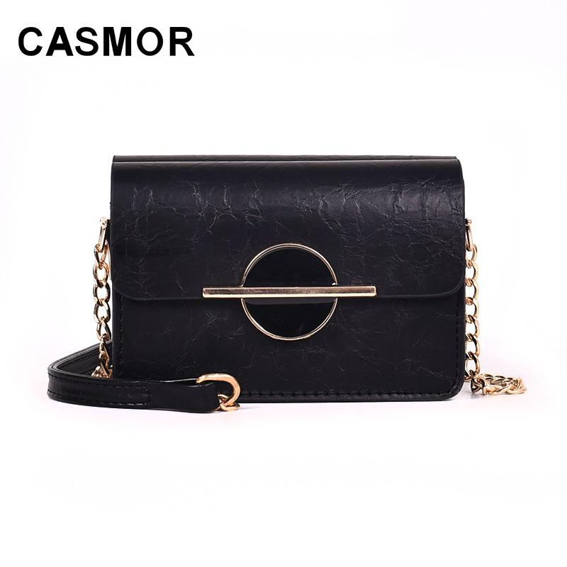 4a912dacc85d6 2019 Fashion CASMOR Mini Women Shoulder Bag Wallet Fashion Chains Crossbody Bags  Luxury Brand Ladies Messenger Bags For Girls Flap Handbag Leather Bags For  ...