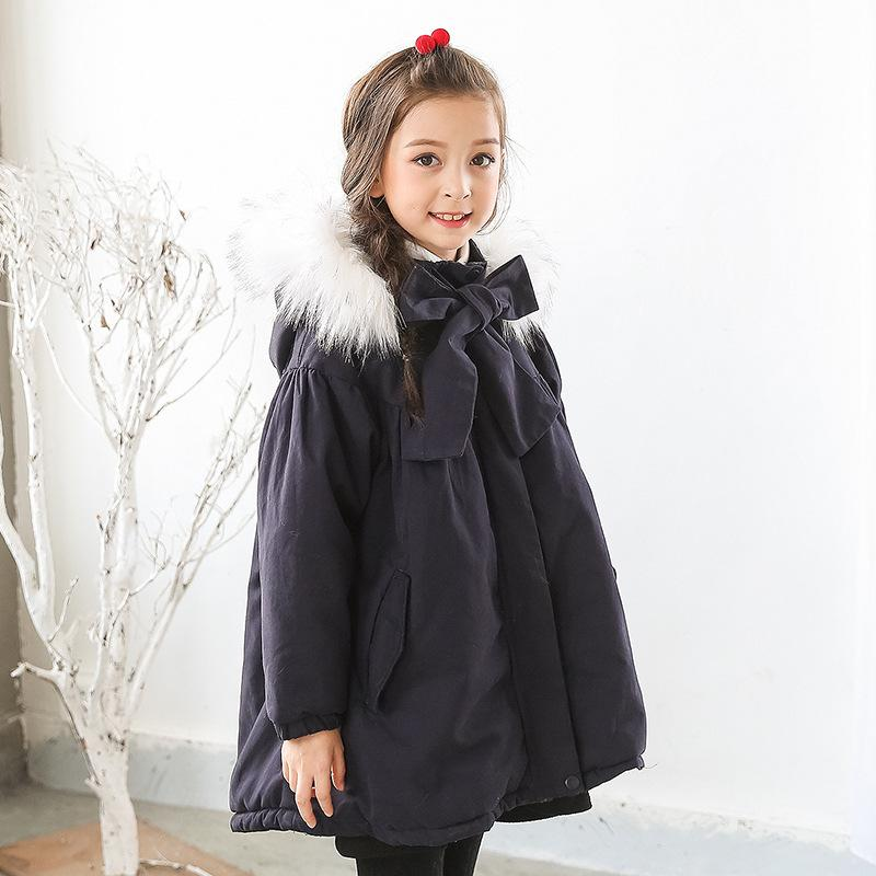 05f9d2811c3d0 fur hooded loose kids winter coats for girls warm cotton padded clothes  children fleece outerwear & coat baby big girl clothing