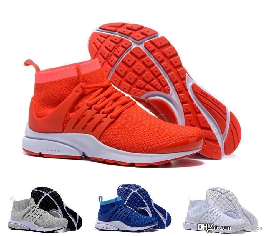 3272b8881ca TOP Air PRESTO BR QS Breathe Black White Mens Basketball Shoes ...