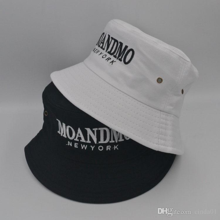 MOANDMO New York GD Letter Embroidered Casual Male Female Designer Hats Men  Women Hip Hop Hats Unisex Bucket Hats UK 2019 From Cinda01 5d3c4944f2