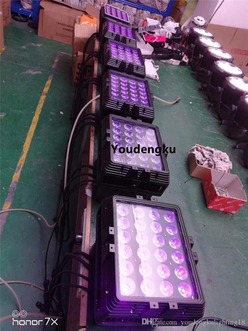 4 parti esterne led wall washer luce 18w RGBWAUV 6in1 esterno impermeabile luce rondella a muro LED City Color