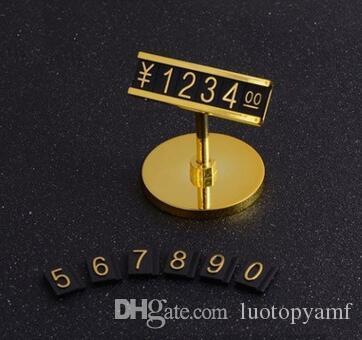 Soporte Digital TAG PRECIO LICENCIA LICENCIA Etiquetas de aluminio de oro redondo de oro. Metal