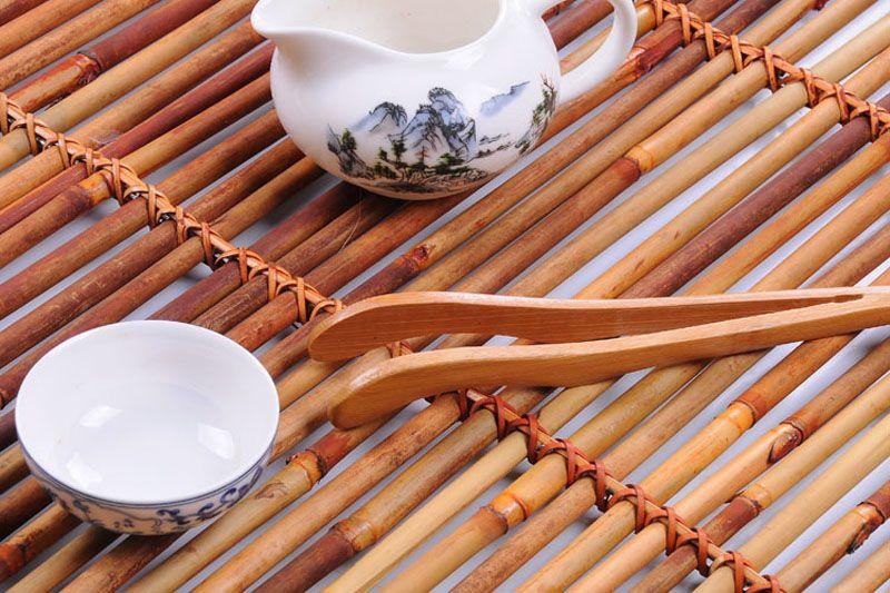18cm Natural Bamboo Tea Clip Handmade Carbonize Tea Tweezer Chinese Tea Ceremony Accessory