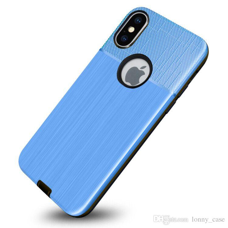 wholesale dealer 9d94d 303bf For Huawei Y5 2018 Y5 Prime 2018 Hybrid Brushed Armor Case For Huawei Y6  2018 Dual Layer Protector Cover