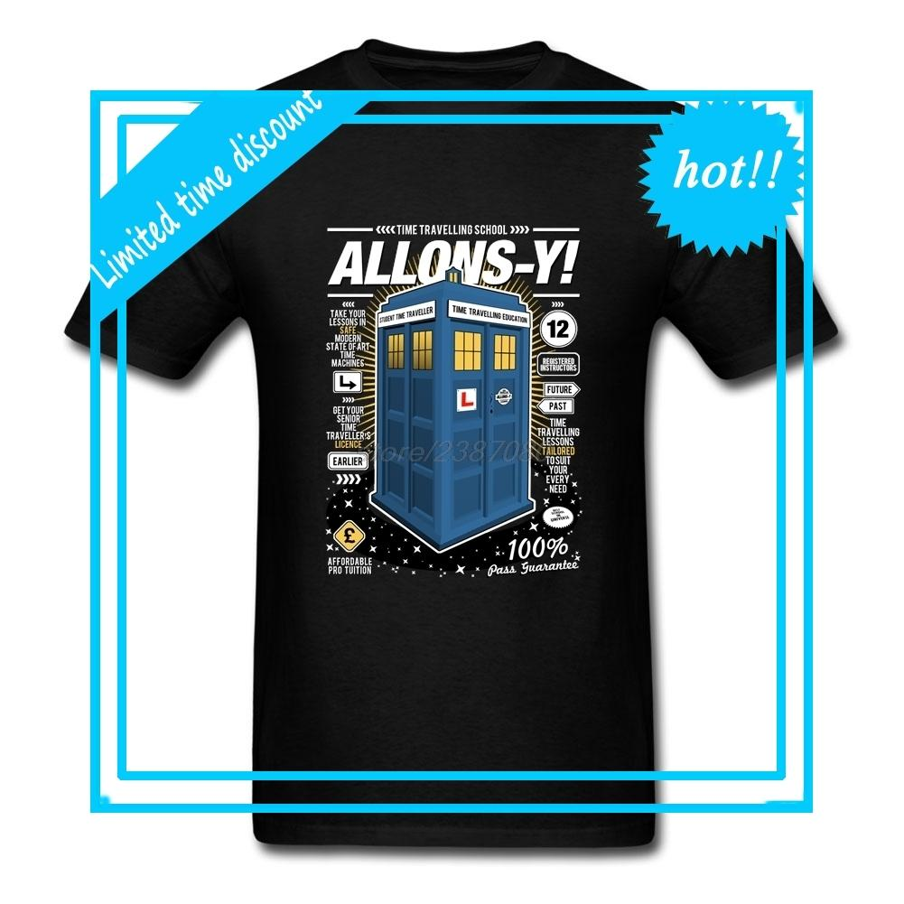 10b5b877 Men's Round Collar Time Travelling Lessons Orange T Shirt Doctor Who ...