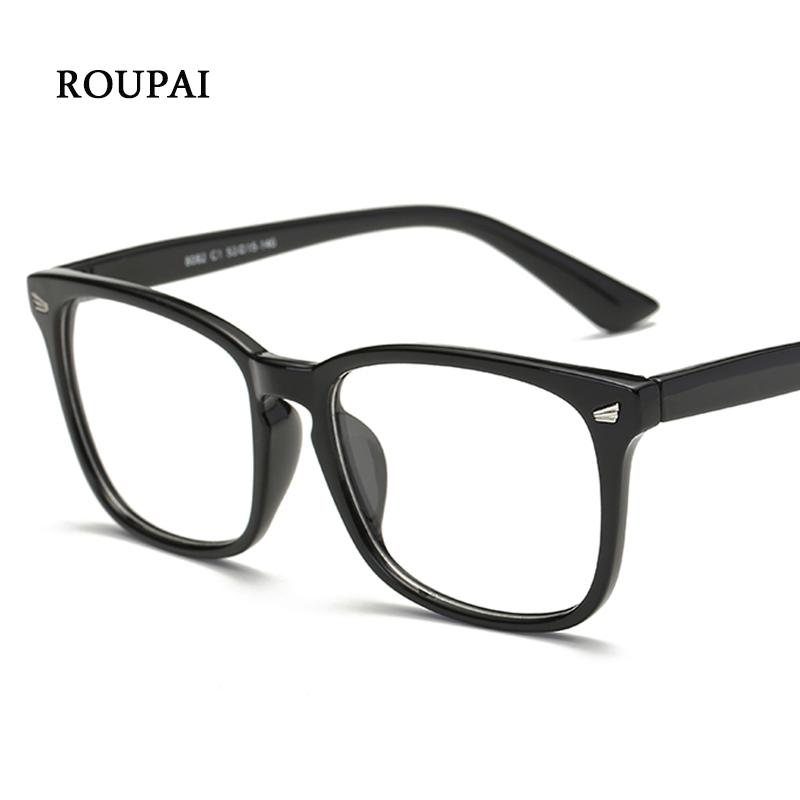 ROUPAI Eye Glasses Frames For Women Men Transparent Big Square ...