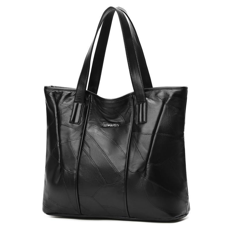 Acquista Tote Bag Donna Moda 2019 Borse Patchwork Vera Pelle Di Pecora  Casual Borse A Tracolla Donna Grande Capacità Borse Shopping Donna Di  Grandi ... 61e6fae0372