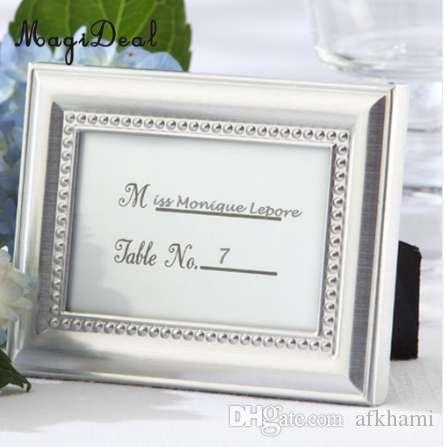 MagiDeal Small Vintage 2.8 *1 Inch Photo Frame Style Place Name Card ...