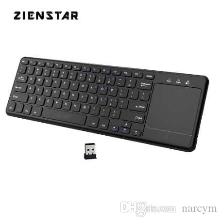 Zienstar 2 4Ghz Touchpad Wireless Keyboard for Windows PC,laptop,ios  pad,Smart TV,HTPC IPTV,Android Box