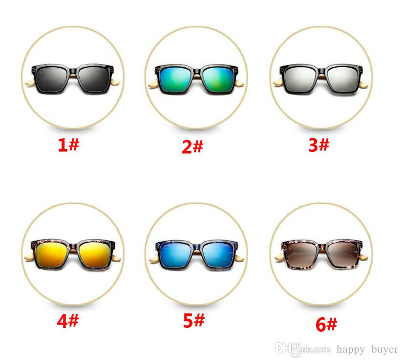 Novel Personality Women Bamboo Foot Sunglasses Summer Beach Holidays Casual Wild Sun Glasses Color Frame Fire Resin Lenses Eyeglasses Cheap