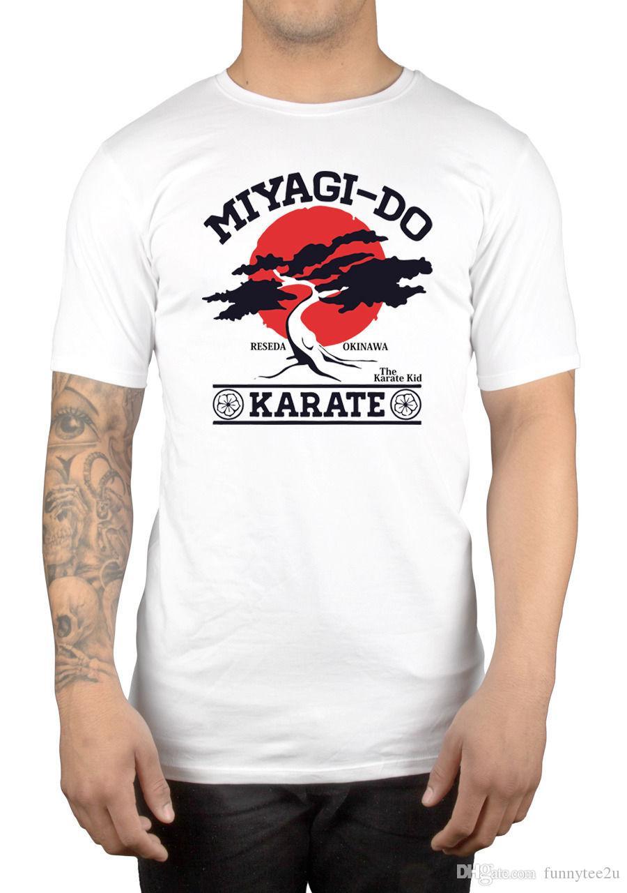 Großhandel Miyagi Do Karate Bonsai Baum T Shirt 9017w Karate Kid