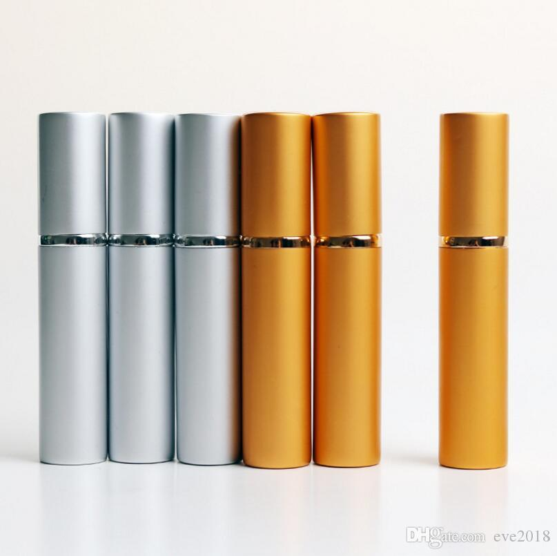 8 ML Moda Vazia De Alumínio Óleos Essenciais Rolo Na Garrafa De Perfume Com Bola De Rolamento De Aço Para Viagens LX1198