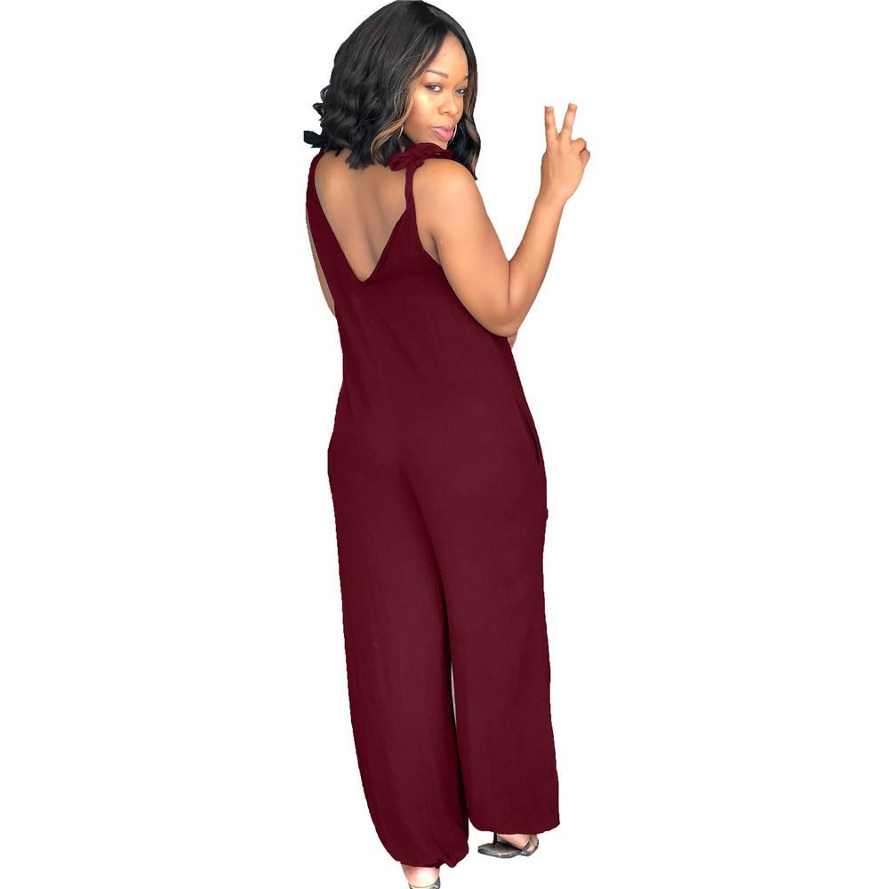 Maoxzon женщин сексуальный ремень свободные комбинезоны комбинезон черный лето без рукавов спинки подтяжки One Piece брюки XXL для женщин