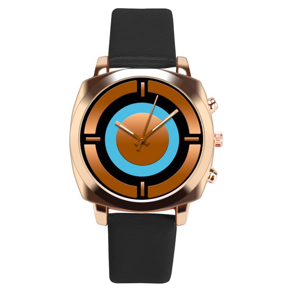 2a930bfa841 Compre Mulher Relógios Moda Feminina Relógio Elegante Relógio Feminino  Pulseira De Couro Analógico De Quartzo Rodada Relógio De Pulso Relógios  Casuais ...