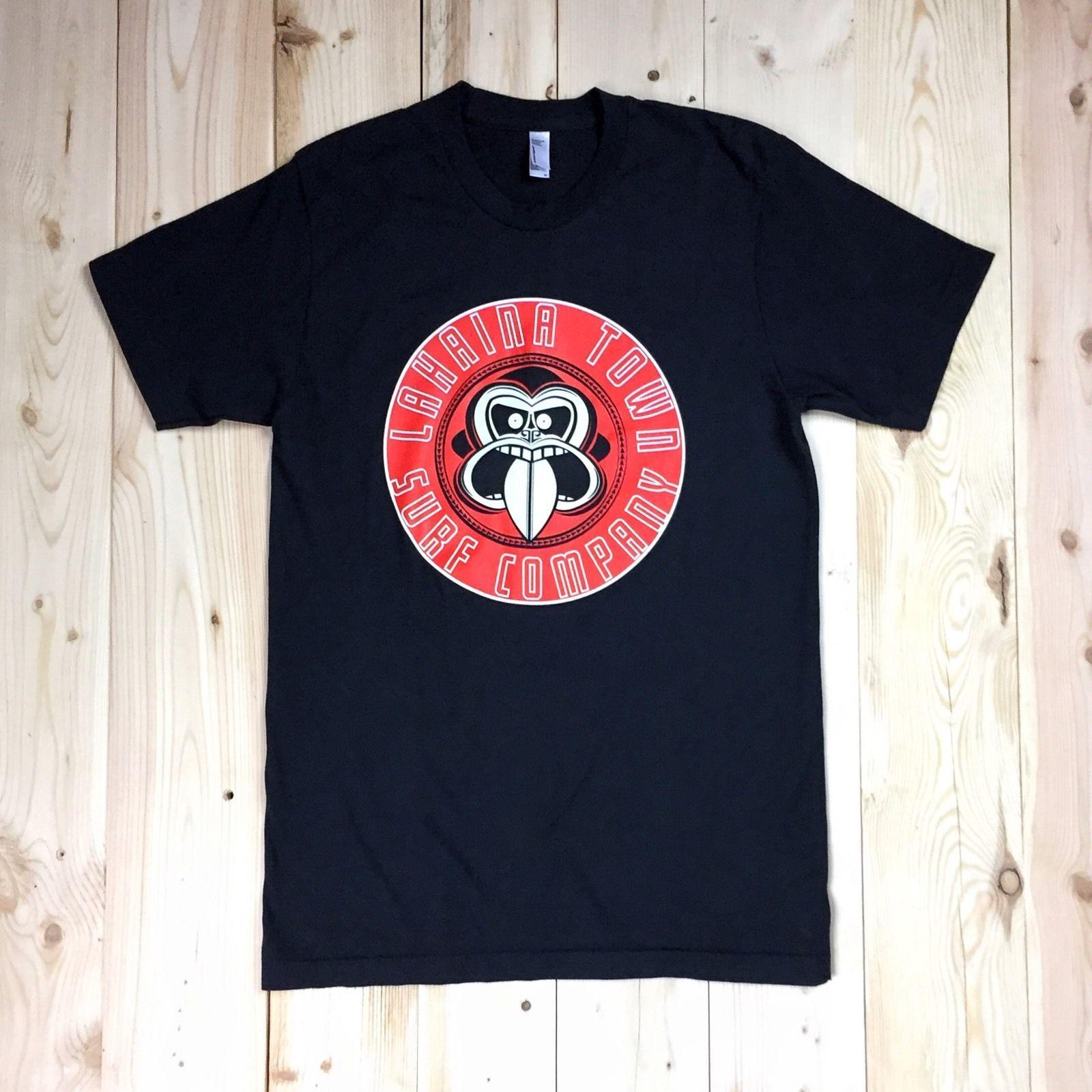 lahaina town surf company men s t shirt medium black slim fit new