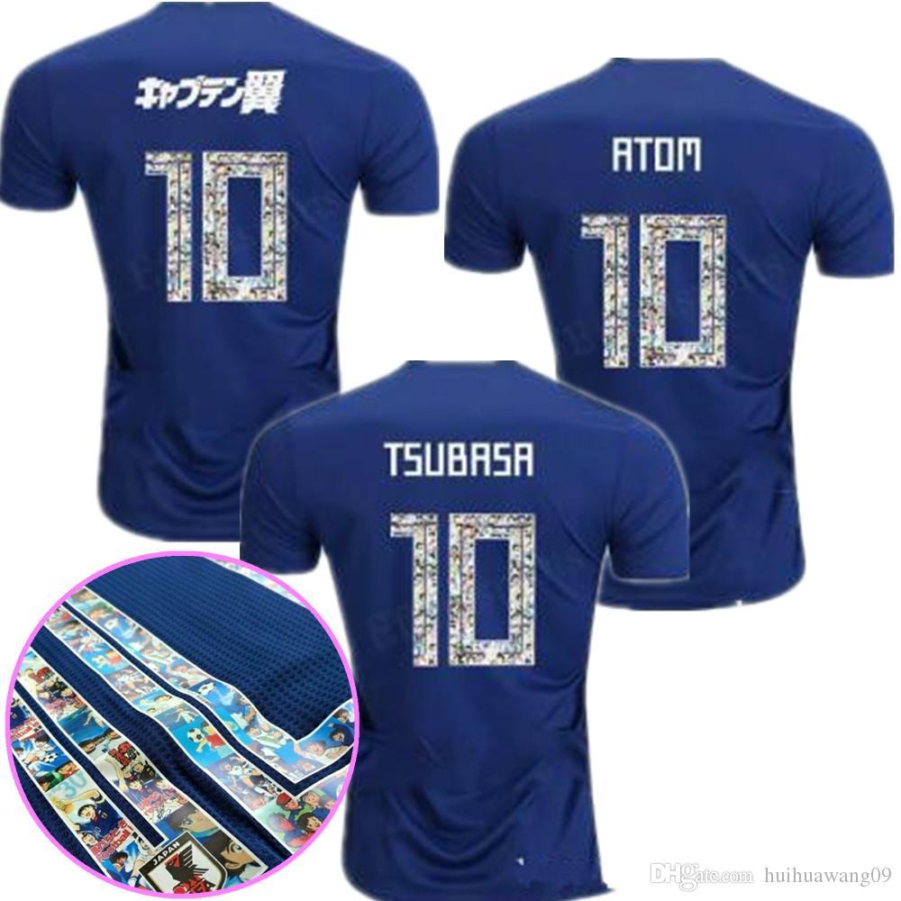 Compre 2018 Japão Camisa De Futebol ATOM 10 NÚMERO DOS DESENHOS ANIMADOS  Japão 18 2019 Tsubasa KAGAWA ENDO OKAZAKI NAGATOMO HASEBE KAMAMOTO Kit De  Futebol ... 6e8c68660718f