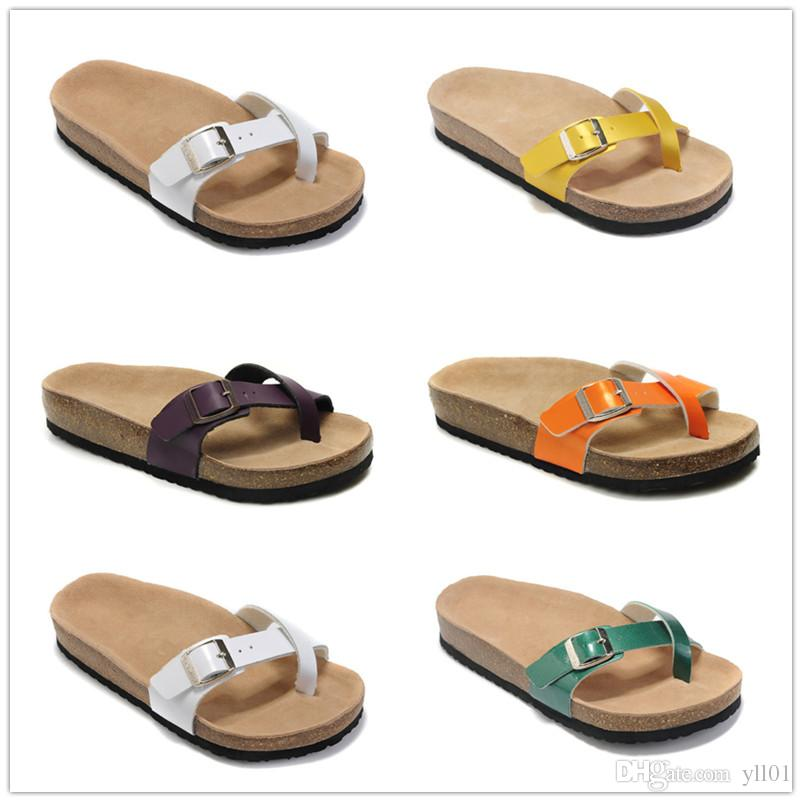 9abc7764f 2018 Hot Sale Birkenstock Slippers Sandals For Lazy Sandals Cork Sandals  Women Fashion Slippers Size 36 40 Ladies Slippers Boys Slippers From Yll01