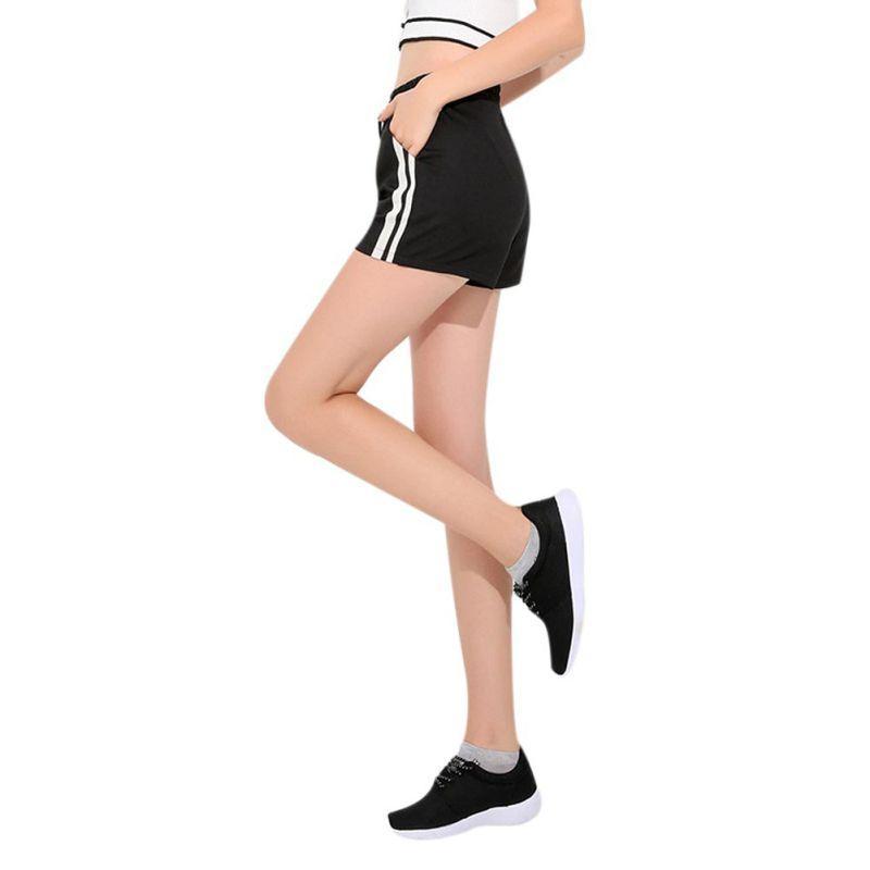 Compre Calções De Treinamento De Esportes De Fitness Verão Magro Bolsos  Tamanho Grande Desgaste Listrado Shorts Esportivos Correndo Yoga Fitness  Macio De ... d357a9ec8ae25