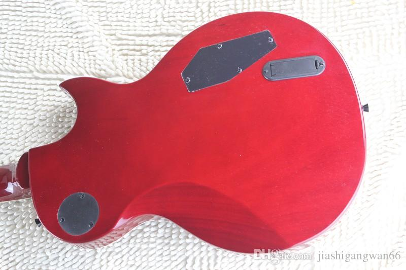 Hot Wholesale High Quality Mosaic inlay fingerboard Deluxe 6 Strings Active Pickup Left Hand LTD Red Electric Guitar