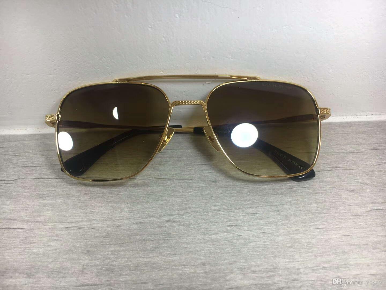 Großhandel Luxus Gold / Brown Flieger Sonnenbrille Flugplatz ...