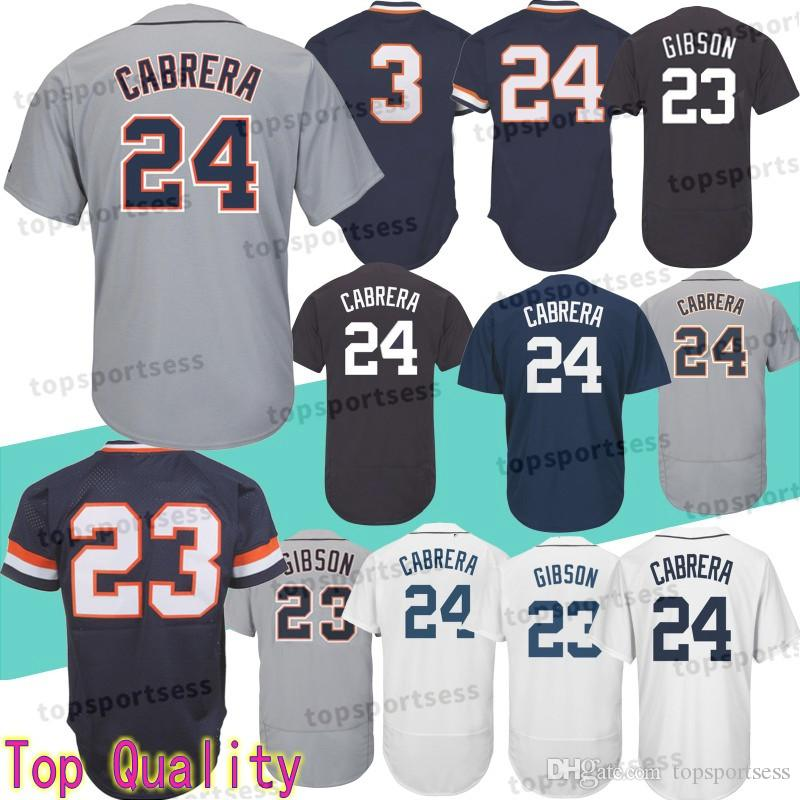 8e9d78c3f32 2019 Detroit Tigers 23 Kirk Gibson Jersey 24 Miguel Cabrera 3 Alan Trammell  Baseball Jerseys Athletic Outdoor Apparel Top Quality From  Mitasneakere2019