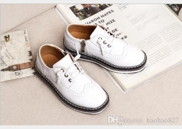 le printemps printemps printemps et l'automne le nouveau style de garçons de souliers en cuir des enfants 7b42e1