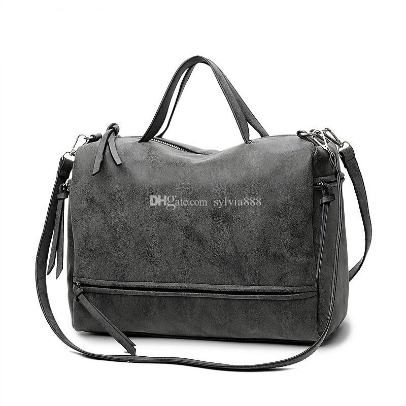 01fdc751f983 2018 Fashion Female Shoulder Bag Nubuck Leather Women Handbag ...
