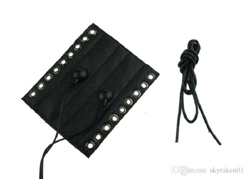 penis ring stimulation electro shock sex toys leather cock ring penis bondage adult sex toys for men