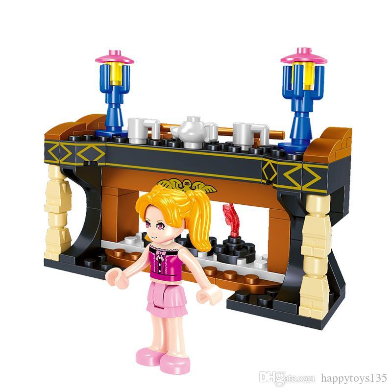 1601 строительные блоки мой мир подарок ребенку игрушка набор мебели игрушки четыре типа 4 в 1 образовательной модели игрушки Лепин