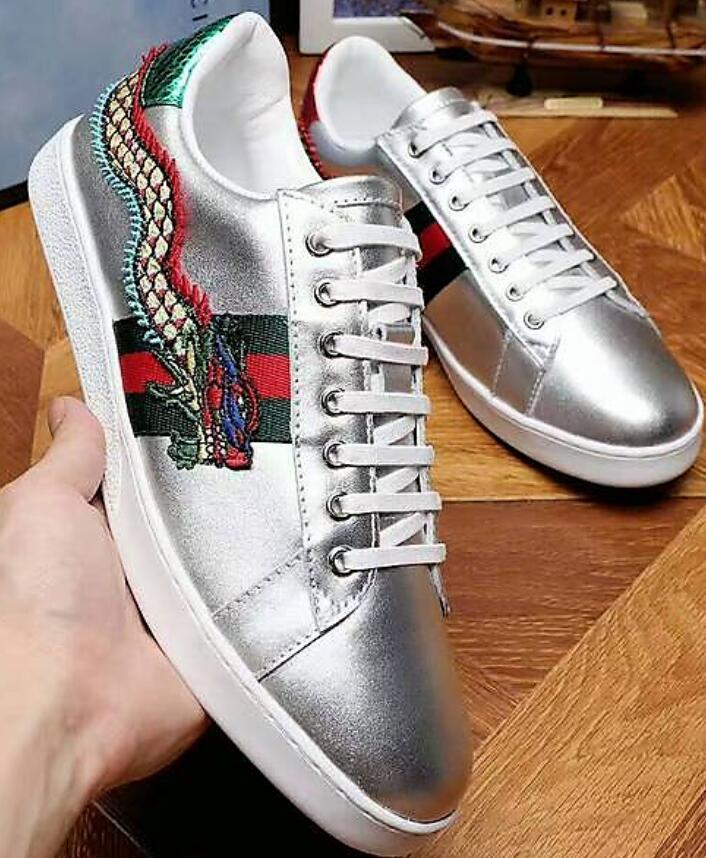 f10ce1ad90f108 Ace Embroidered Sneaker Loafers Drivers Espadrilles Sneakers Flats Shoes  SHOES SNEAKERS 2018 Dress Shoes Loafers Shoes Sneakers Online with  $101.8/Piece on ...