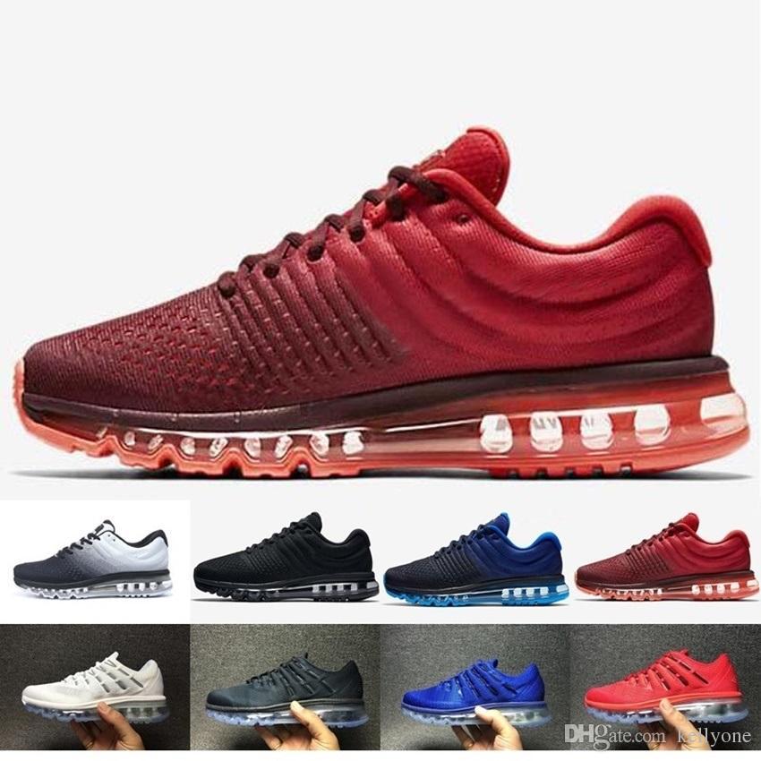 size 40 d9f6c 4beaa Acheter Nike Air Max 2017 Airmax 2017 Date Air Huarache I Chaussures De Course  Pour Hommes Femmes, Vert Blanc Noir Rose Or Chaussures Sneakers Triple ...
