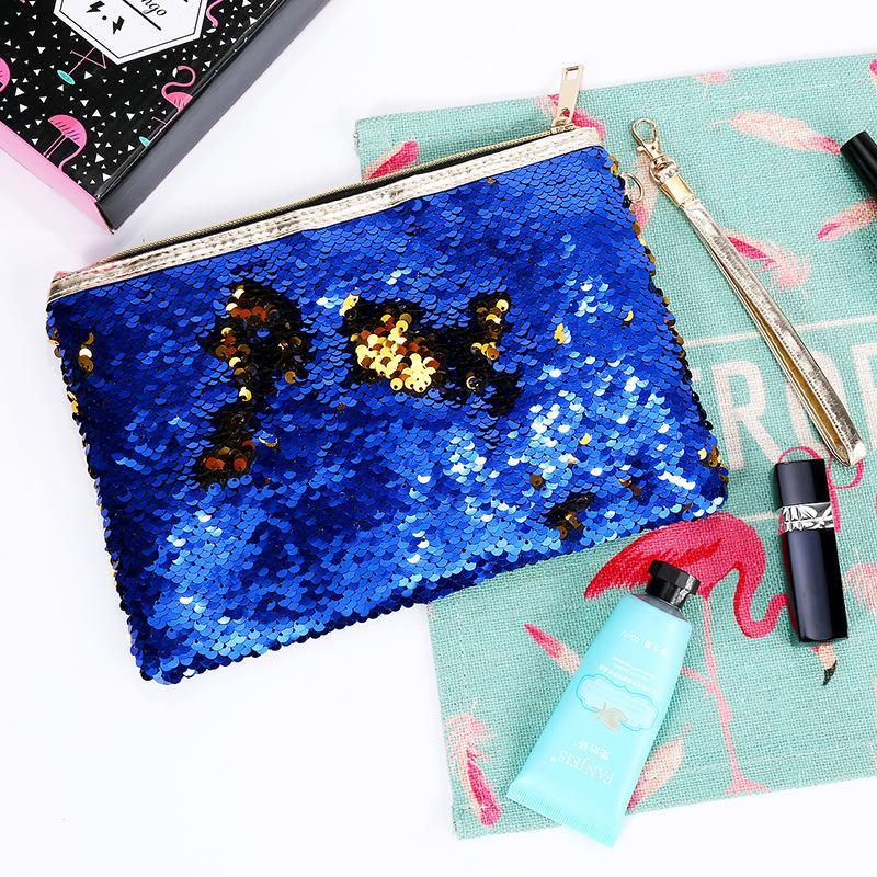 Mode Luxus Hochzeit Abend Party Clutch Bag Meerjungfrau Pailletten Münze Geldbörse Make-Up Aufbewahrungsbeutel Glitter DIY Paillettenbeutel 8 Farbe