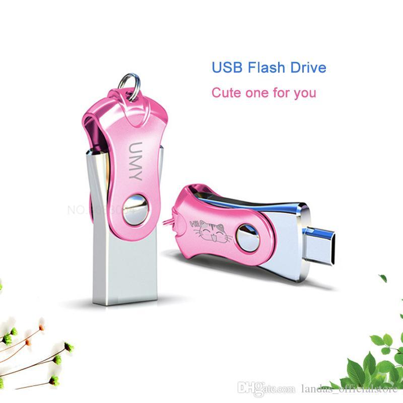 Memoria USB única 8GB Pen Drive para computadora de escritorio 32GB Unidad flash USB Capacidad real Cute Flash Stick 16 GB Pendrive 64 GB para Xiao Mi