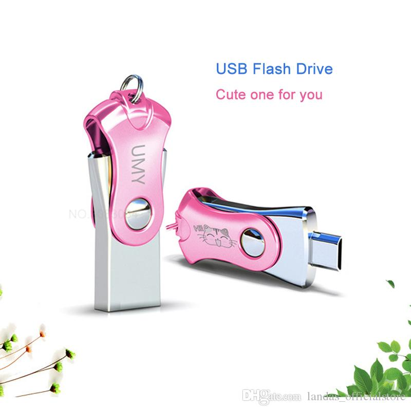 Unico USB Memory Stick 8 GB Pen Drive Desktop 32 GB USB Flash Drive Capacità reale Cute Flash Stick 16 GB Pendrive 64GB Xiao Mi