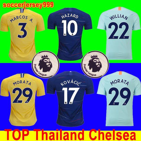 18 19 Chelsea Soccer Jersey Football Shirt Uniform MORATA Jerseys Fútbol  2019 2018 MORATA Hazard Diego Costa Kante Camiseta BATSHUAYI Camiseta  Chandal De ... 31303570d8068