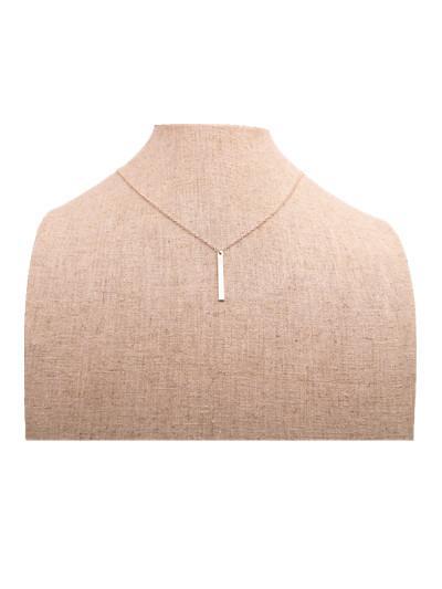 18 K Altın Gümüş Güney Amerika tarzı cuboid Kolye kolye Şerit kaplama kolye kadınlar için en iyi hediye