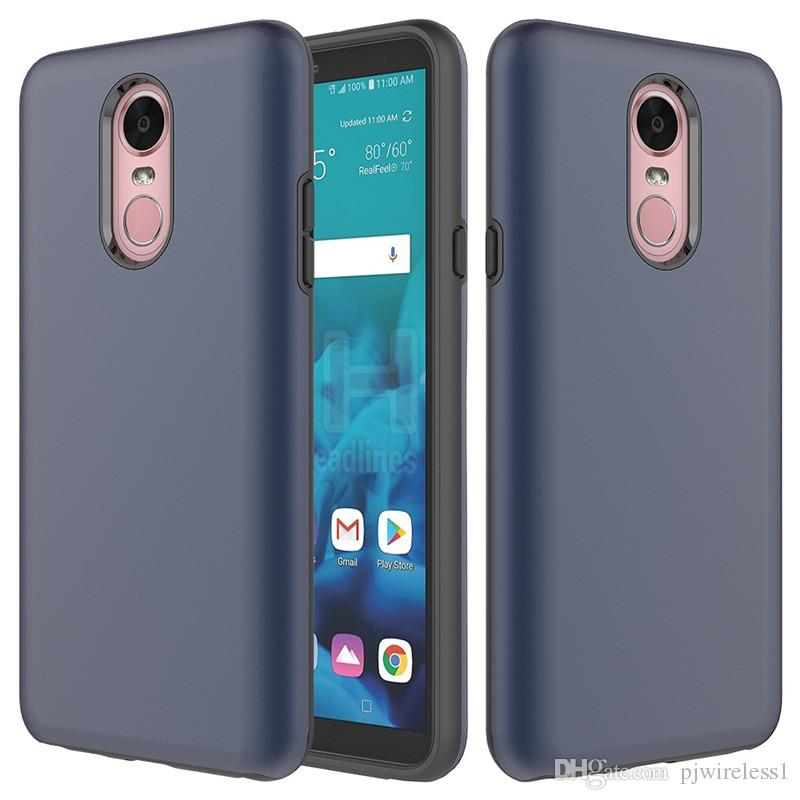 For LG stylo 4 MetroPcs Hybrid Armor case tpu+pc 2 in 1 Phone case cover wrapped Case For LG Aristo 2 Metropcs B