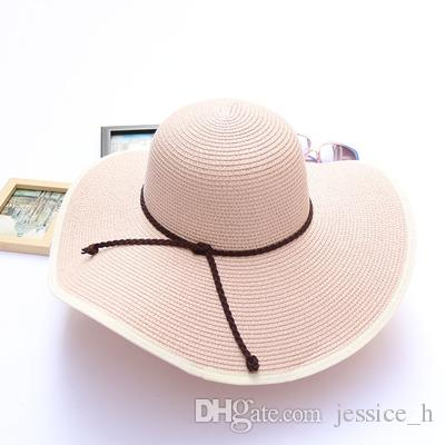 508edefd Cheap Vintage Ladies Summer Hats Best Women Black White Wide Brim Hat