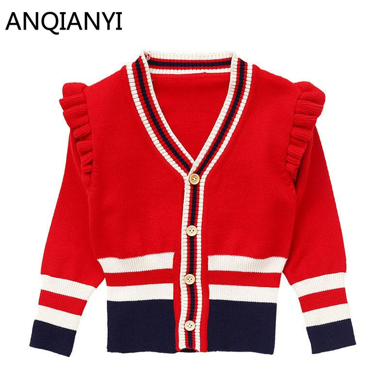 2289eaf67 2018 Autumn Winter Cotton Sweater Top Baby Children V Neck Clothing ...