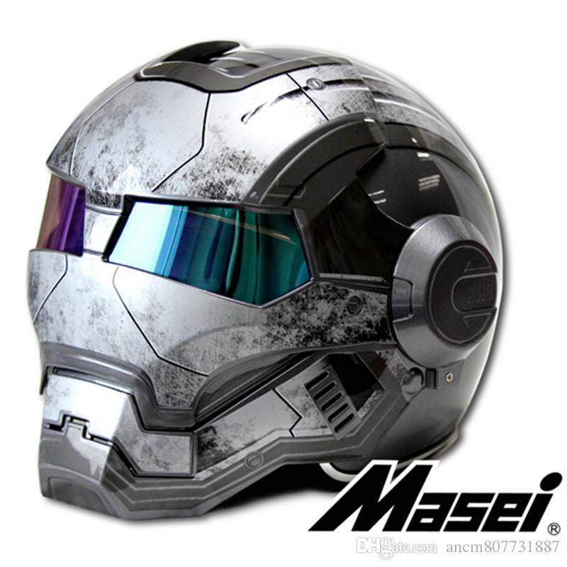 d3fa58a4 Bright / Matte Gray MASEI IRONMAN Iron Man Helmet Motorcycle Retro Half  Helmet Open Face Helmet 610 ABS Casque Motocross Cheap Bike Helmet Cheap  Bike ...
