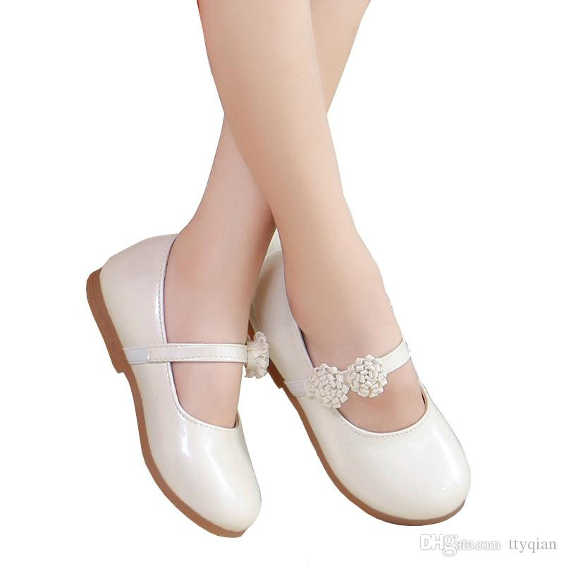 f557a659e5f8b New 2019 Spring Autumn Children Flowers Girls Kids White Pink Leather  Princess Shoes For Teens Teenagers Girls Casual Dance Student Shoes  Princess Shoes ...