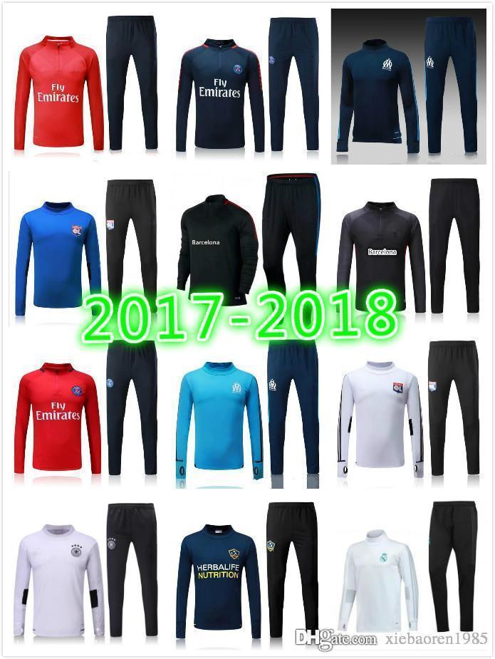 Compre Top Thai Quality 17 18 Monaco Chaqueta Roja Kits De Traje De  Entrenamiento De Fútbol Jersey 2017 2018 Bernardo Bakayoko Carrillo Falcao  Mbappe ... 40f5512b57769