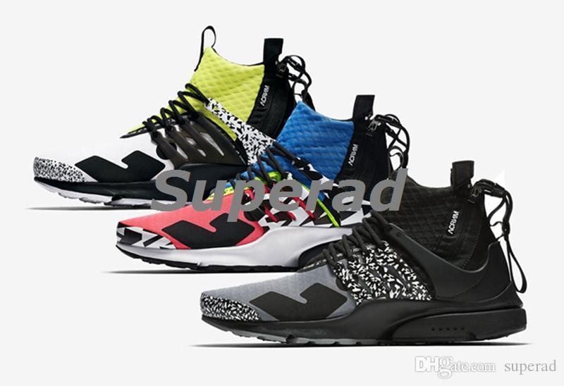 low priced e7c0b af38c Acquista New Release ACRONYM X Air Presto Mid Cotton Candy Cool Grigio  Dynamic Giallo Uomo Donna Scarpe Da Corsa Sport Sneakers Di Alta Qualità  Con Scatola ...