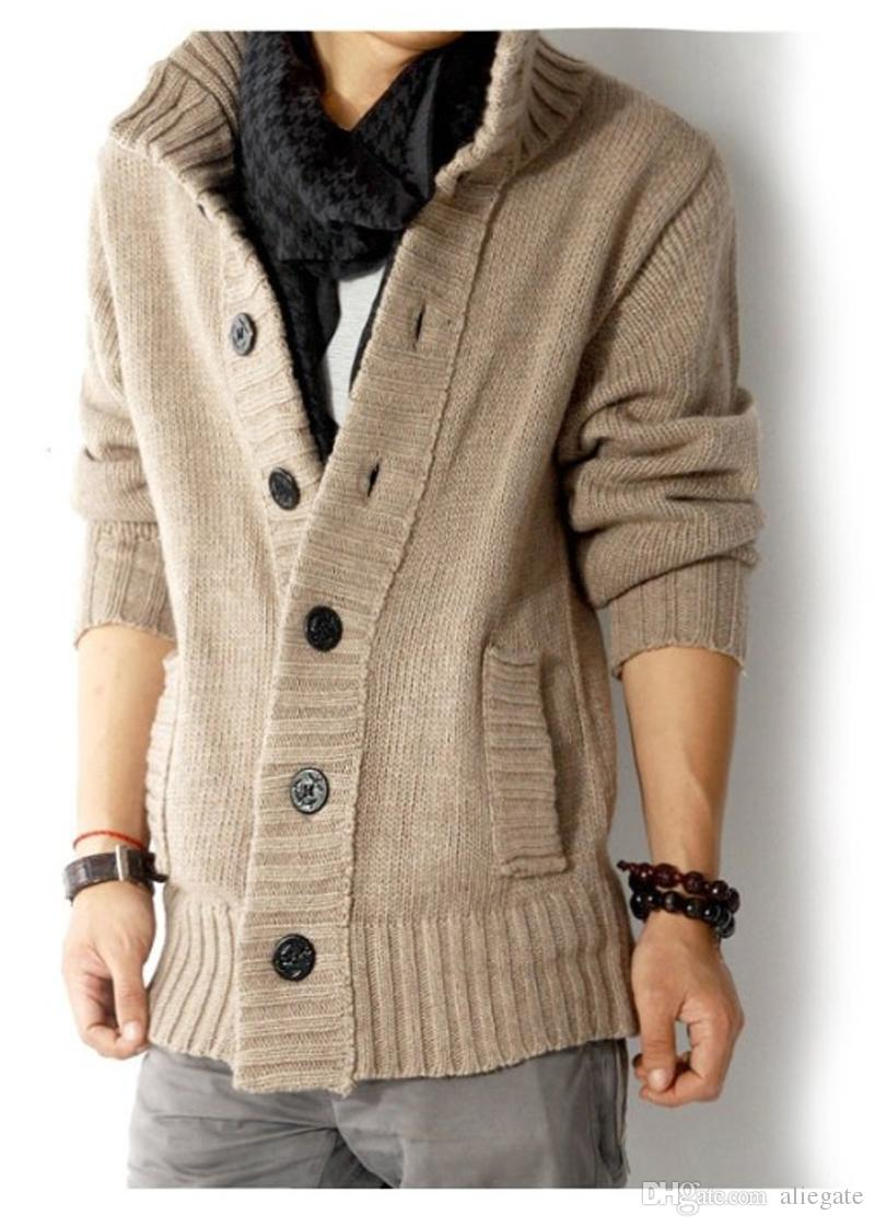 2019 Men S New Long Section Stand Collar Thick Button Sweater Men S Fashion  High Quality Autumn And Winter Cardigan Jacket From Aliegate d7b328cf3