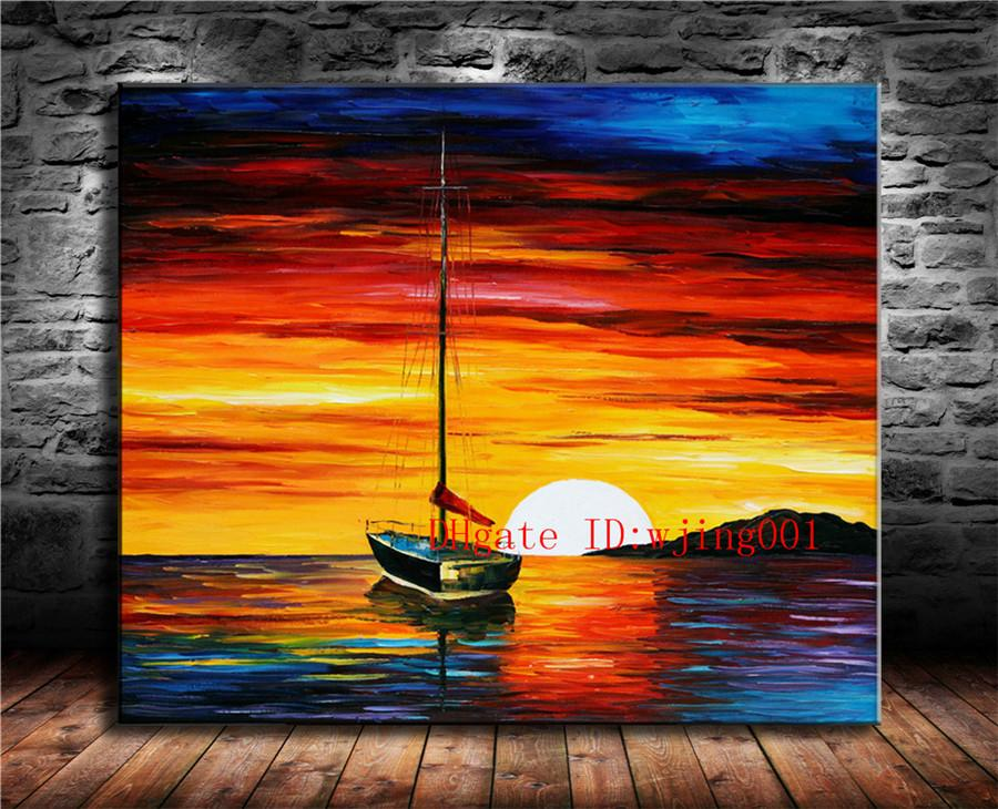 Ocean Under Dusk, Canvas Canvas Home Decor HD Stampato su tela Modern Art (senza cornice / con cornice)